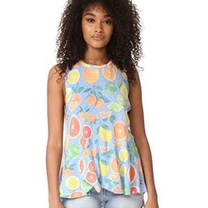 NEW Wildfox Citrus La Rosa Top